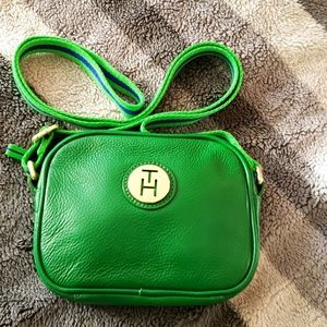 Tommy Hilfiger leather Green crossbody